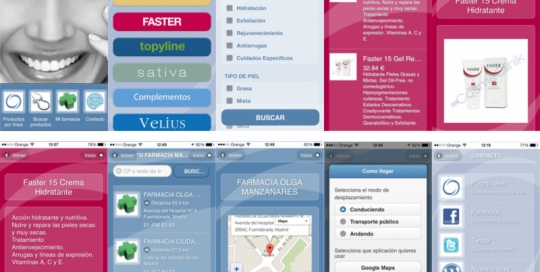App Cosmeclinik realizada por ZOOM DIGITAL, desarrollo de app mobile