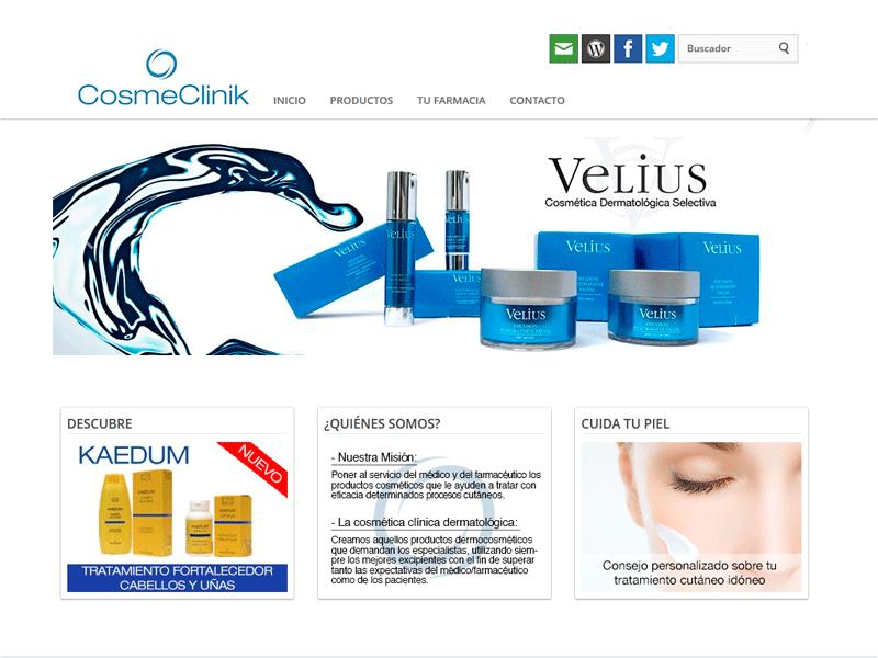Modulo de venta online Cosmeclinick. ZOOM DIGITAL. Madrid