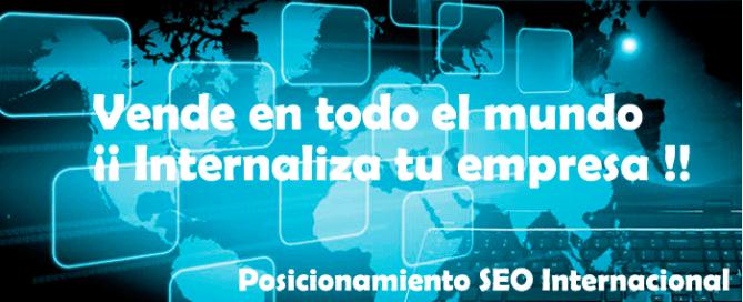 Posicionamiento SEO Web, internacionalizar empresas, SEO internacional