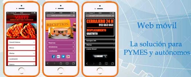 Web movil para empresas pymes y autonomos. Zoom Digital agencia de marketing online