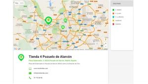Mapa de puntos de ubicación de tus negocios. App móvil para empresas Zoom Digital