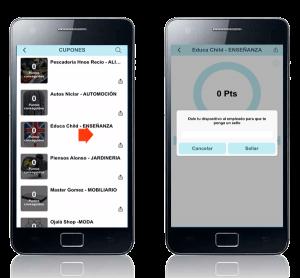 Cupones descuento y fidelización de usuarios app móvil Zoom Digital