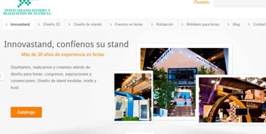 Diseño web Innovastand. Zoom Digitla agencia de marketing online y posicionamiento web