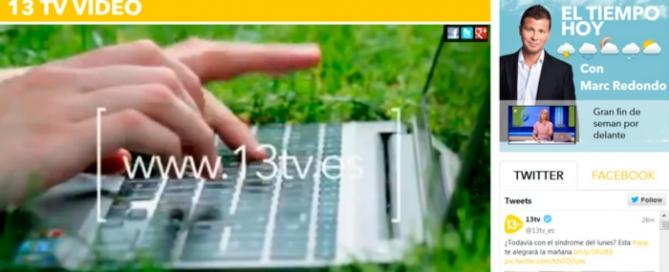 Nueva web 13 TV realizada por Zoom Digital, agencia de marketing online