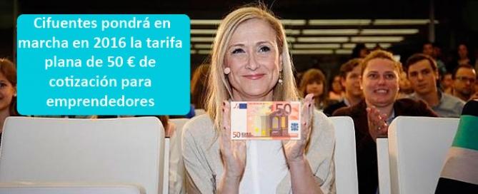 Cotización de 50 € para emprendedores comunidad de Madrid 2016