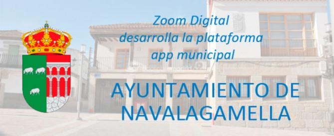 app movíl municipal ayuntamiento de Navalagamella. Zoom Digital